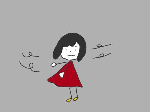 Wind und Maedchen 風と女の子