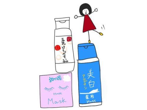 日本のコスメと女の子
