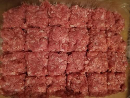割ったひき肉