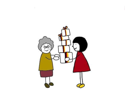 おばあちゃんと女の子