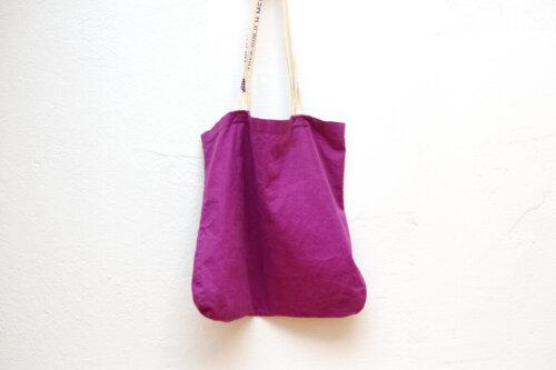 dmのエコバッグ紫