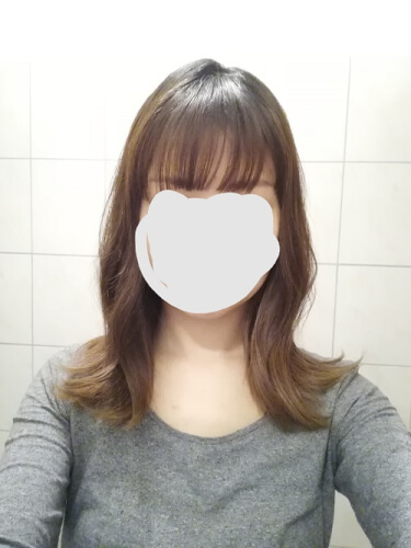 髪の毛を切った